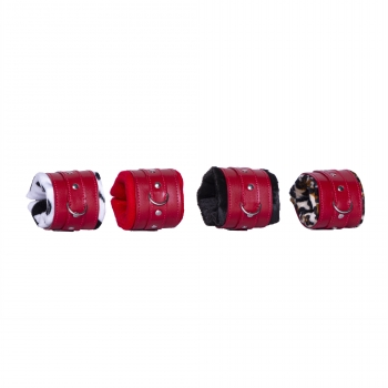 Ankle cuffs - red