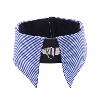 Collar Inlay - blue/checkered