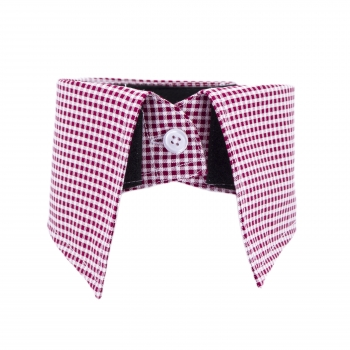 Collar Inlay - red/checkered